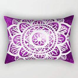 Purple Galaxy Mandala Rectangular Pillow