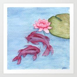Koi Watercolor Art Print