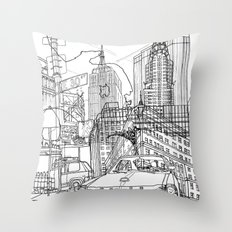 New York! B&W Throw Pillow