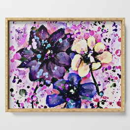 Fun Flowers Serving Tray