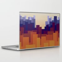 cityscape Laptop & iPad Skins featuring Cityscape by MarMarMette