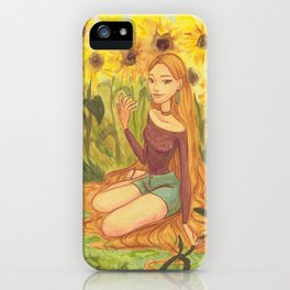 Sunflower Girl iPhone Case