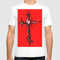 CROSS IN RED MEDIUM Mens Fitted Tee White