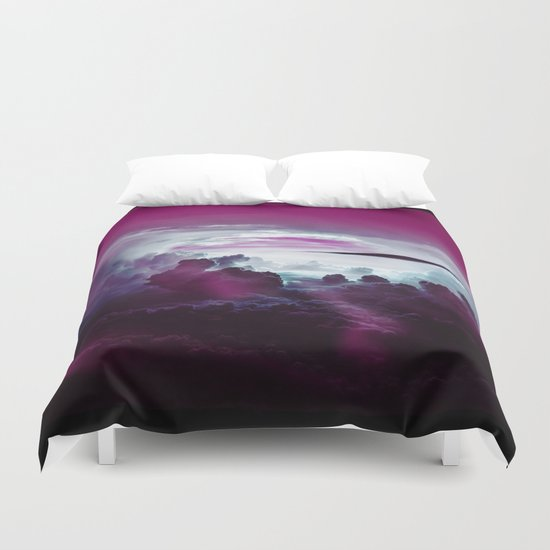 I Want To Believe -Pink Duvet Cover