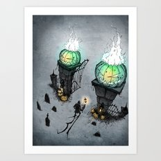 A Month of Haunts Art Print