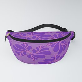 puprle floral pattern Fanny Pack