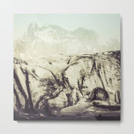 At the Glacier Metal Print