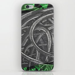 Junction - green/black graphic iPhone Skin