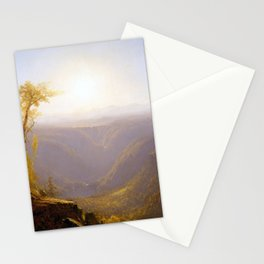 Sanford Robinson Gifford A Gorge in the Mountains Stationery Cards