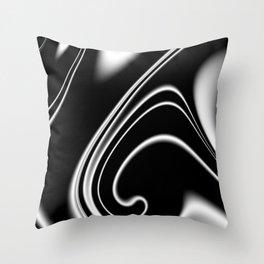 black and white -b- Throw Pillow