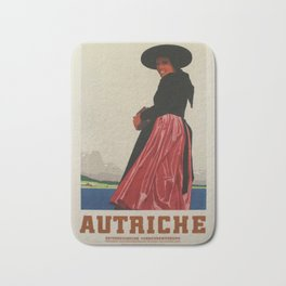 vintage Plakat Autriche Austria Wagula Bath Mat