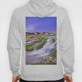 River San Juan. Waterfall At Sunset Hoody