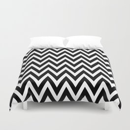 Chevron Black Duvet Cover
