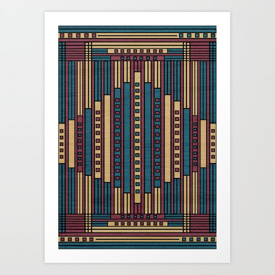 GeoAbstract Art Print