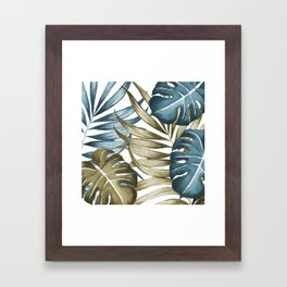 TROPICAL LEAVES 5 Framed Art Print