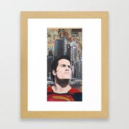 Son Of Krypton Framed Art Print