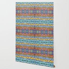 Colorful Life Tribal Pattern Wallpaper