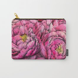 Peonies three pink Carry-All Pouch