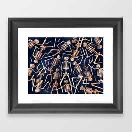 Skeleton Pile! Framed Art Print