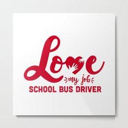 Schoolbus driver, school bus driver Metal Print