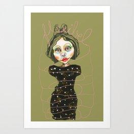 flexible girl Art Print