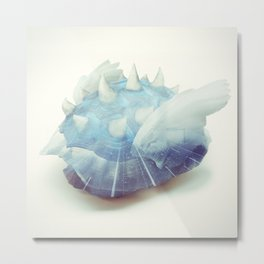 Blue Shell - Kart Art Metal Print