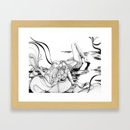 Micron Baigneuse Framed Art Print
