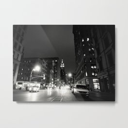 New York City at Night Metal Print