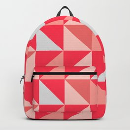 Shade of red geometry cute pattern Backpack