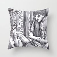 abigail larson Throw Pillows featuring Hannibal - Abigail and Will  by Furiarossa