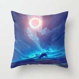 Stellar collision Throw Pillow