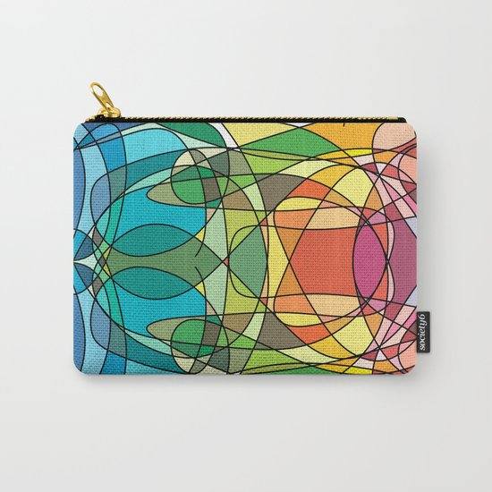 Abstract Curves #4 - Butter Fly Carry-All Pouch