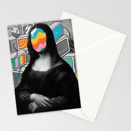 Mona Lisa Meltdown Stationery Cards