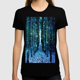 Magical Forest Teal Turquoise T-shirt
