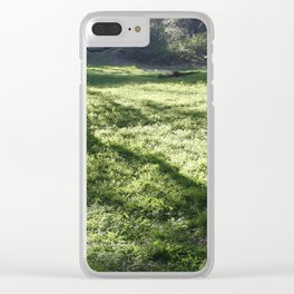 Shadows in the park Clear iPhone Case