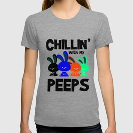 Easter Bunny Chilling hobbling fun gift T-shirt
