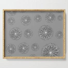 Grey Dandelions Serving Tray