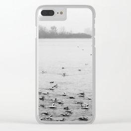 Water Birds in Winter Clear iPhone Case