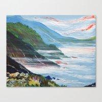 big sur Canvas Prints featuring Big Sur by Laura Hol Art