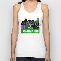 sesame street Tank Tops featuring Hamsterdam Street by Grady