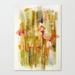 corn poppy in wheat field Canvas Print
