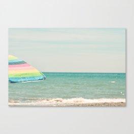 Sombrilla Canvas Print