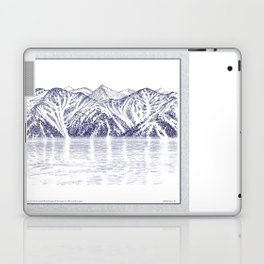 TURNAGAIN ARM AND THE CHUGACH RANGE ON THE COOK INLET ALASKA Laptop & iPad Skin