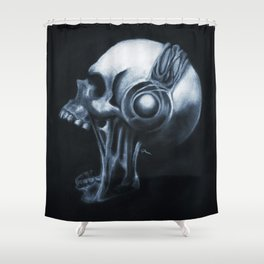 Skull & Headphones Shower Curtain