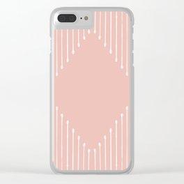 Geo / Blush Clear iPhone Case