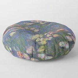 Water Lilies (Nymphéas), c.1916 Art, Monet Floor Pillow