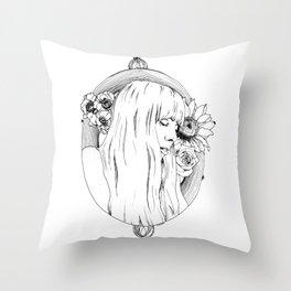 Joni Mitchell Throw Pillow