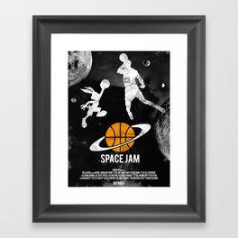 Redone Space Jam Movie Poster  Framed Art Print