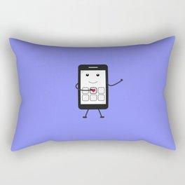 Friendly Smartphone Rectangular Pillow