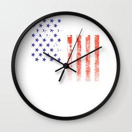 We did it Joe American Flag Wall Clock